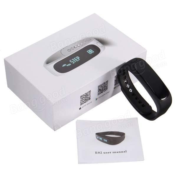 EU Direct | Bluetooth 4.0 Smart Bracelet Sport Healthy Wrist Watch Pedometer