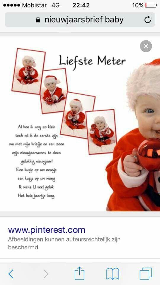 Nieuwjaarsbrief baby