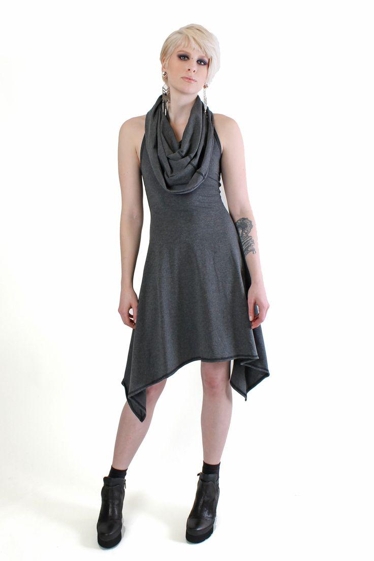 Five and Diamond Crisiswear Hybrid Cowl Dress