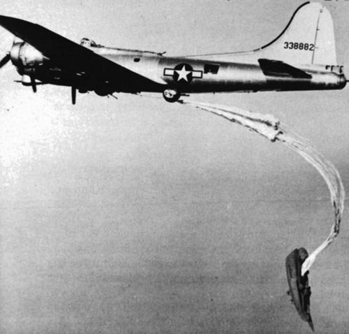 The modified B-17 nicknamed the Flying Dutchman was equipped with a boat that would be released near downed airmen.