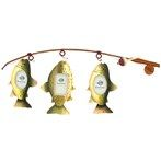 Three Fish on Rod Picture Frame