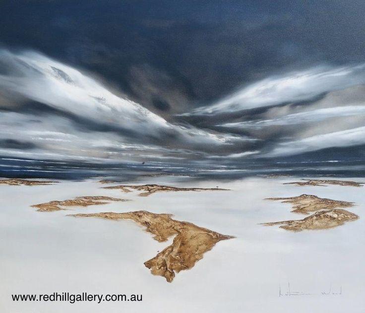 "Katherine Wood ""Vast Mysterious World 3"" 160x100cm. 61 Musgrave Road, Red Hill, Brisbane, QLD Australia. art@redhillgallery.com.au"