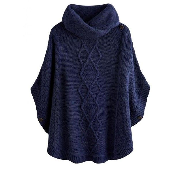 Joules Tess Ladies Poncho (R) found on Polyvore