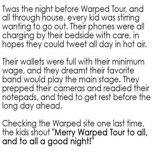 Warped Tour OH MY GOSH THIS IS AMAZING