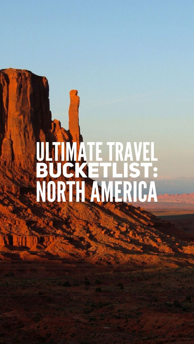 The final geographical instalment of the ultimate bucket list series! Here's some serious travel inspo for Canada and the USA! Click through to see where to go in North America (and to leave your own suggestions!)