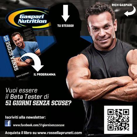 51 giorni senza scuse - il libro di Rich Gaspari con motivazione, alimentazione e allenamento per trasformarti. su www.rossellapruneti.com/i...