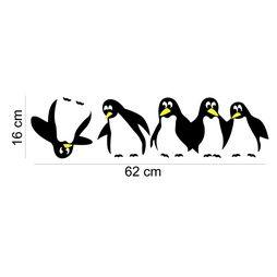 Pingvin Väggdekor väggord väggtext vinyl. 16 * 62 CM