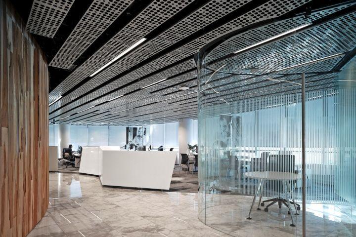 PURE metal ceiling for ENTEL Headquarters, Santiago – Chile » Retail Design Blog