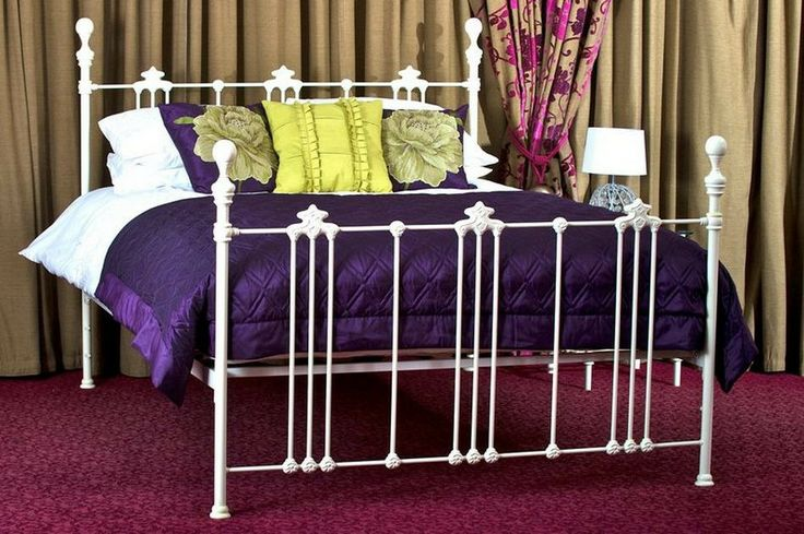 The Kenmare metal bed in white is truly Romantic.
