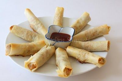 Healthy baked spring rolls