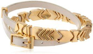 House of Harlow 1960 Gold-Plated and Leather Wrap Bracelet  #krissylovesbling