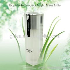 20ml 30ml 40ml 50ml Square Acrylic Airless Container for Cosmetics