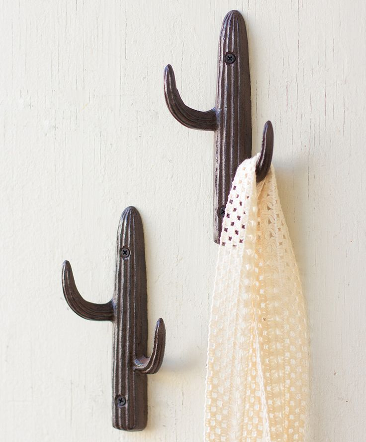 Cast Iron Cactus Wall Hook