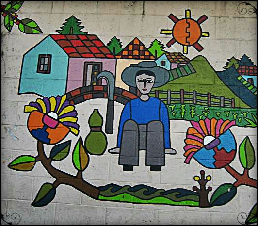 Mural in La Palma, El Salvador #art ... Photo by http://travellersoul76.com
