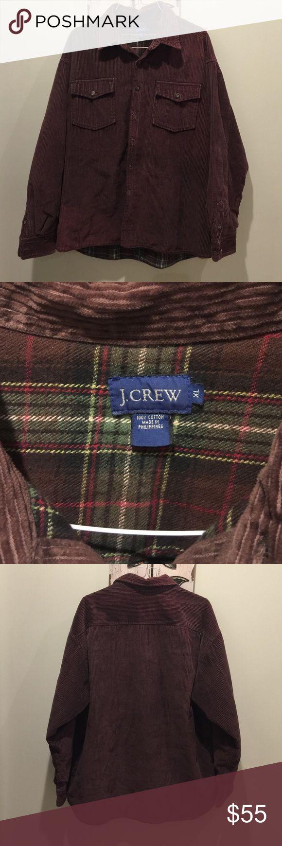 J Crew Corduroy Heavy Barn Jacket Coat X-Large Heavy Brown Barn Jacket J Crew Coat.  Flannel Lined, Size XL. J Crew Jackets & Coats