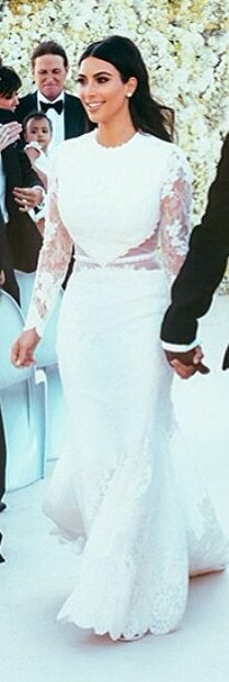 One Of Kim Kardashian S Wedding Dresses