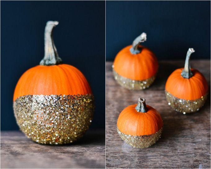 DIY glitter pumpkins for a festive Thanksgiving