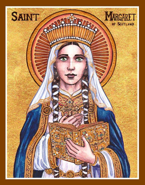 """St. Margaret of Scotland"" icon by Theophilia on DeviantArt #ReligousIcons #CatholicArtwork #StMargaretofScotland"