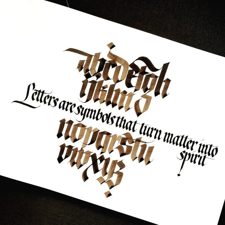 More letters with walnut ink, brause nibs and automatic pen.