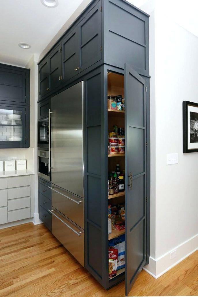Kitchen Less Deep Refrigerators Built In Fridge Freezer Cabinet