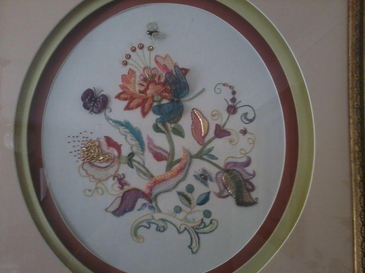 Mixed  medium Jacobean  Embroidery