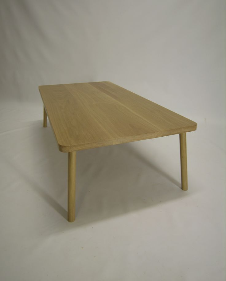 American Oak Coffee Table Handmade ,white Oil Finish,beautiful And Simple  @chriscolwelldesign