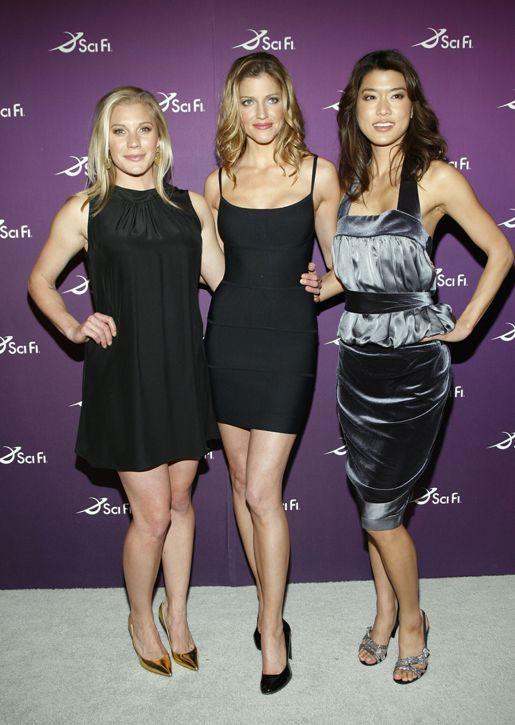 Katee Sackhoff, Tricia Helfer, and Grace Park -- Battlestar Galactica