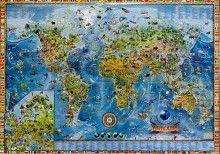 Amazing world - świat dla dzieci mapa ścienna na podkładzie do wpinania, Ray&Co