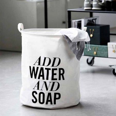 "Cesto biancheria ""Add Water And Soap"""