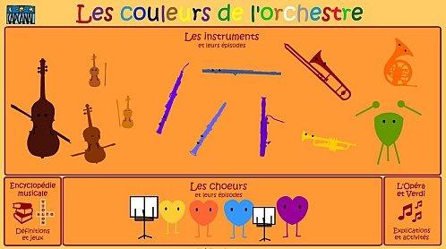 A website to initiate kids to musical instruments. Un site internet pour initier les enfants aux instruments de musique.
