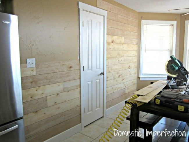 How to make a plank wall out of thin plywood. Such a budget friendly option!