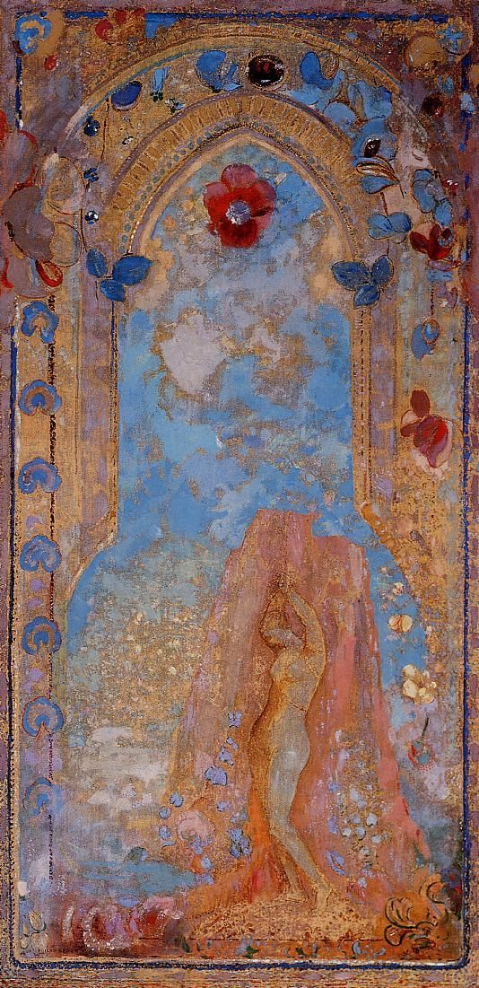The Woman Gallery - Odilon Redon - Pastel and charcola on cardboard