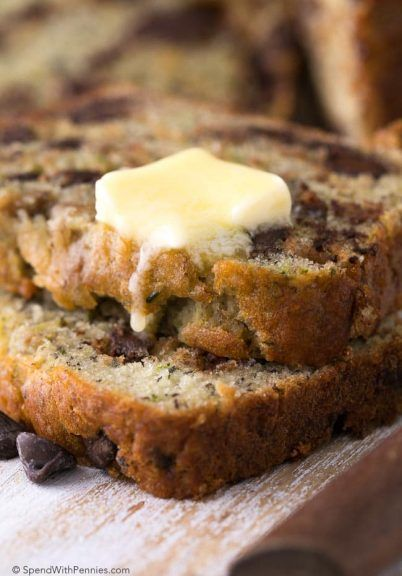 Chocolate Chip Zucchini Banana Bread is the most delicious way to enjoy ripe bananas & zucchini! This is one recipe you can feel good about making.
