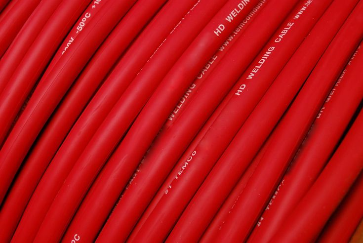 TEMCo WC0413 - 25 ft 1/0 Gauge AWG Welding Lead & Car Battery Cable Copper Wire RED   MADE IN USA