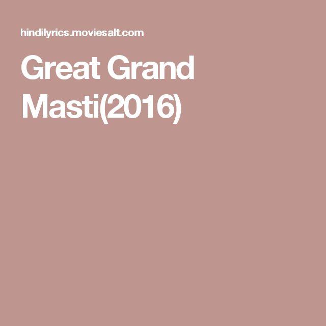 Great Grand Masti(2016)