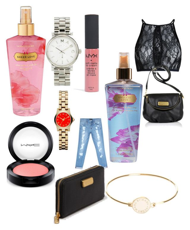 """Ønsker til jer"" by emiliesevel on Polyvore featuring beauty, Victoria's Secret, MAC Cosmetics, Bebe and Marc by Marc Jacobs"