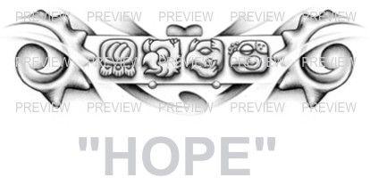 HOPE Mayan Glyphs Tattoo Design D » ₪ AZTEC TATTOOS ₪ Aztec Mayan Inca Tattoo Designs Instant Download