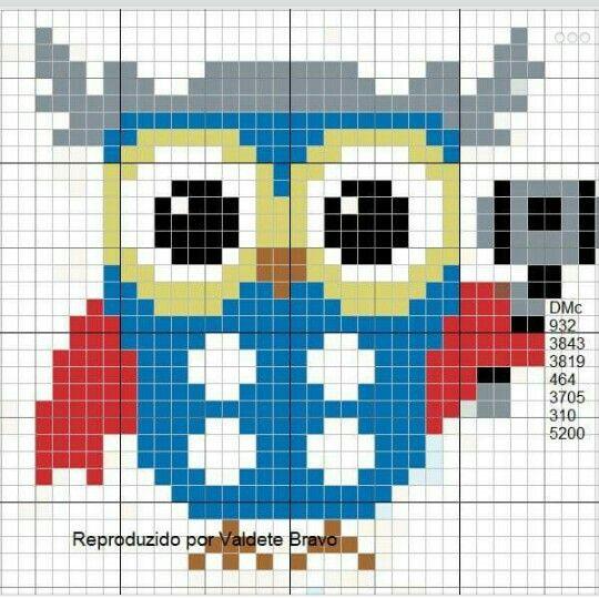 671 best perler beads images on Pinterest | Owls, Birds and Cross ...
