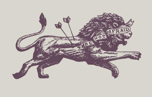 Be Not Afraid @ Scott Erickson ArtScott Erickson Art #lion #vintage