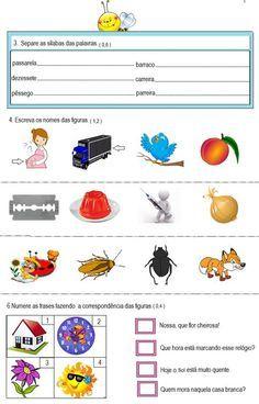 Atividade de interpretação de texto para segundo ano. Avaliação diagnóstica para segundo ano. Avaliação de língua portuguesa para segundo ano