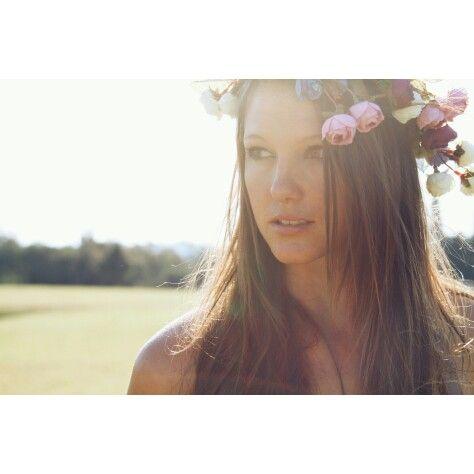 Sam in another flower crown #diy