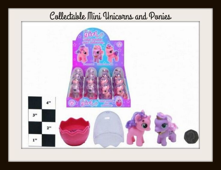 MY LITTLE PONY UNICORNS - COLLECTABLE - 4 x 3 inches -Party Gift - KIDS TOYS NEW