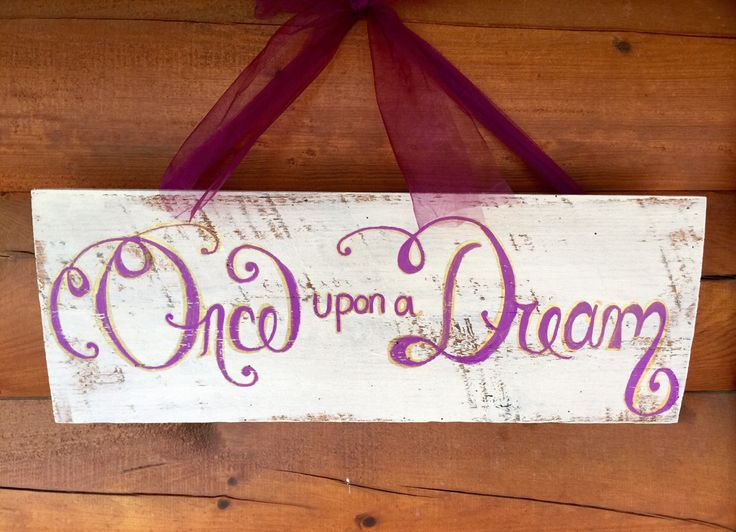 Hand-painted Disney Princess inspired theme wall decor for little girls room, nursery or play room