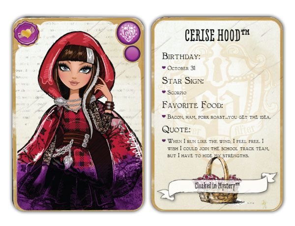 Ever After High Cerise Hood: Daughter of Red Riding Hood ...
