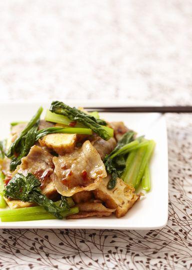 小松菜と厚揚げの中華炒め のレシピ・作り方 │ABCクッキングスタジオのレシピ | 料理教室・スクールならABCクッキングスタジオ