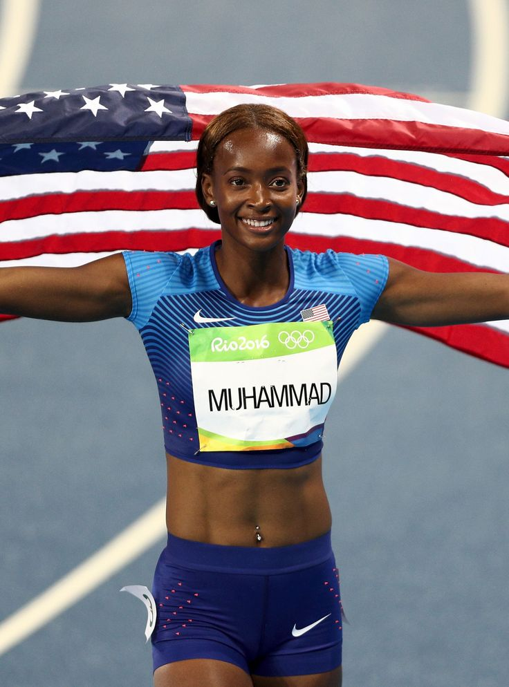 400M HURDLES GOLD For Dalilah Muhammad!  1st U.S. Woman To Win 400M Hurdles GOLD! Denmark, Silver & fellow American Ashley Spencer took Bronze. 8/19/16