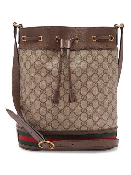 0ab27456a5b Gucci Ophidia GG Supreme small bucket bag