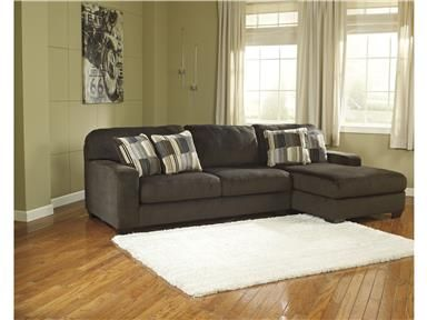 Enhance Your Livingroom With The Western Sectional Sofa From Signature Design Its Natural Chocolate Color And Soft Polyester Upholstery This