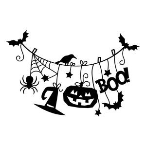 silhouette design store view design 157378 halloween hanging decoration - Halloween Design