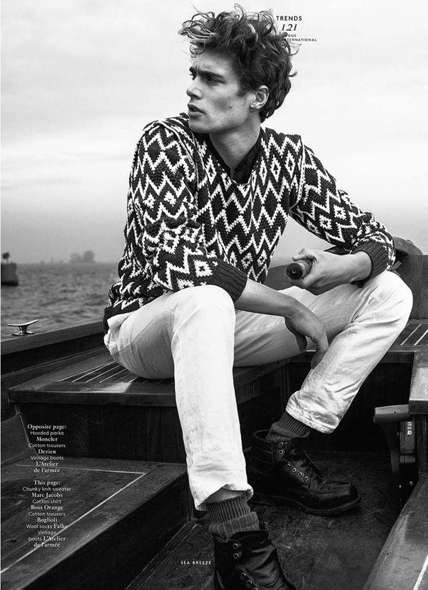 Vogue Hommes International ss 2014 ft. Gen Huismans by Philippe Vogelenzang.